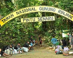 The Senaru entrance to Rinjani National Park