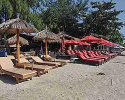 Beach front on Gili Trawangan