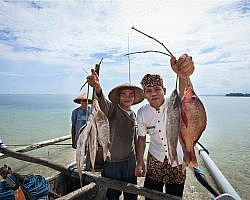 fishing in Lombok is a very popular activity