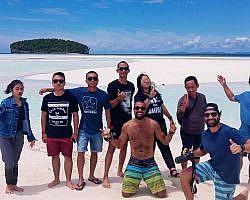 Tourists having fun at Raja Ampat islands