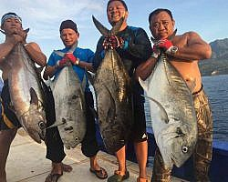 In Lombok game fishing is a favorite pastime
