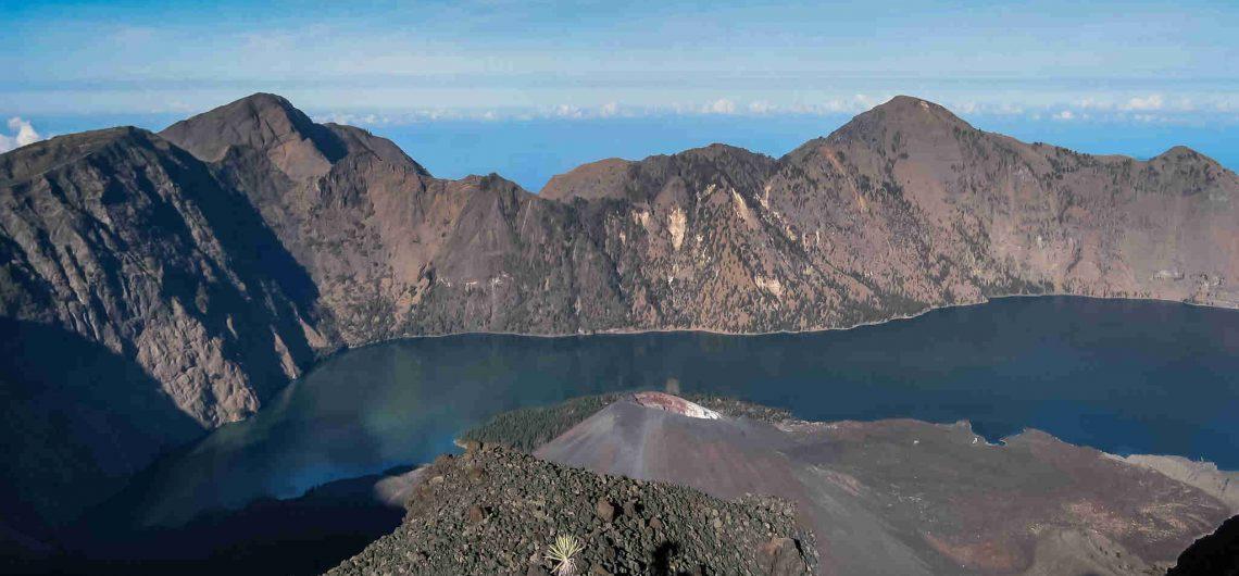 majestic gunung rinjani the tallest peak in Lombok