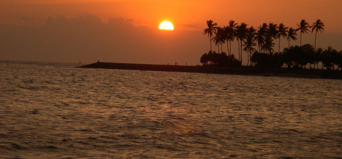 senggigi beach sunset